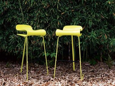 Synthetic material garden stool BCN | Stool