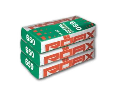 Intonaco deumidificante / Intonaco e formulato risanante e deumidificante RÖFIX 650