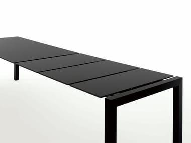 Ausziehbarer Tisch aus Alucompact® SUSHI | Tisch aus Aluminium