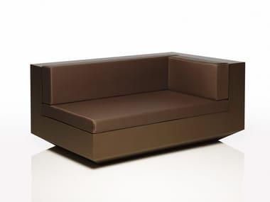 Corner polyethylene garden sofa VELA L   Modular garden sofa