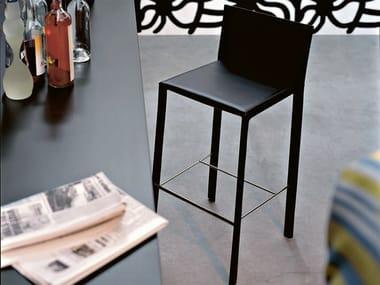 Tanned leather stool SLIM   Stool