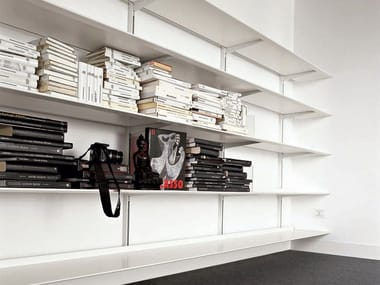 Aluminium bookcase DOT