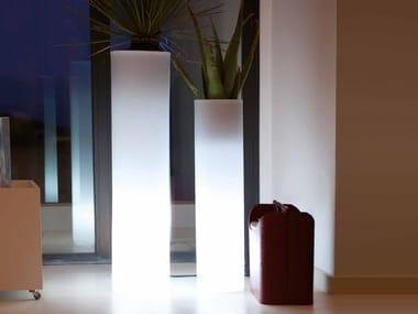 High polyethylene garden vase with Light TORRE