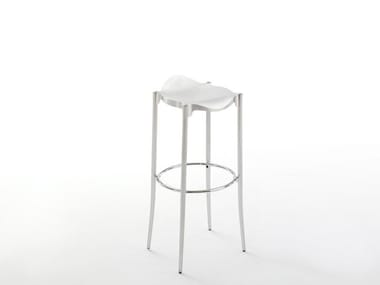 High stool with footrest JANET