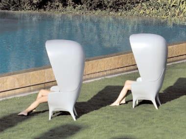 Poltrona da giardino in polietilene con schienale alto SHOWTIME | Poltrona da giardino