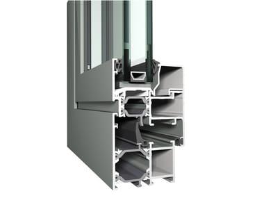 Sistema in alluminio per finestre e porte a battente Eco System 50