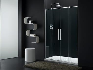 Box doccia a nicchia con porta scorrevole S-LITE SI + SW-1
