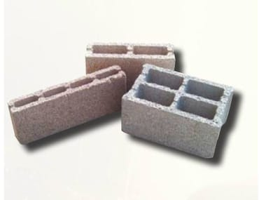 Lightweight concrete block for internal partition POMIBLOCK®