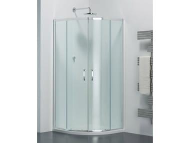 Box doccia semicircolare in vetro con porta scorrevole ARCO AR