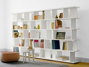 Open sectional solid wood bookcase ARIE