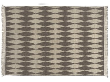 Wool rug with geometric shapes NEYRIZ