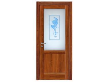Hinged wood veneer door CALLE 02