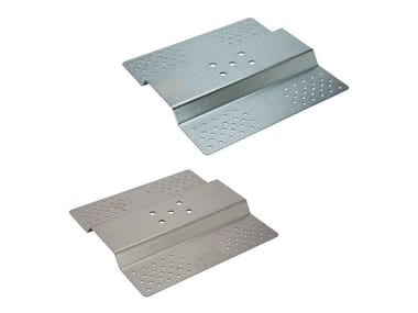 Anchoring plate for corrugated sheeted roofs with holes GREK   Fall arrest system