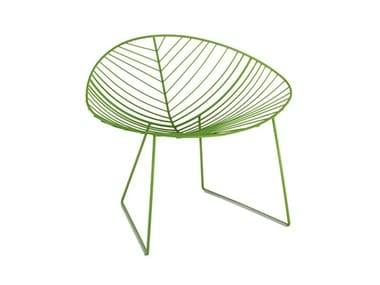 Sled base garden steel easy chair LEAF | Easy chair