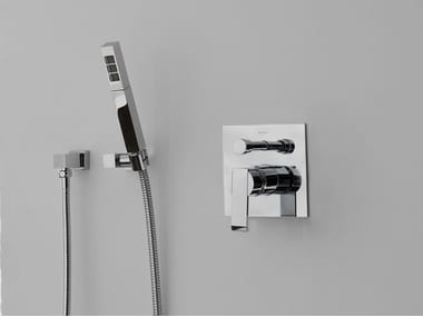 Wall-mounted handshower with hose for shower QUBIC | Wall-mounted handshower