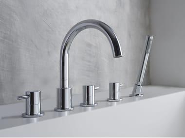 5 hole bathtub set with hand shower M.E. | Bathtub set