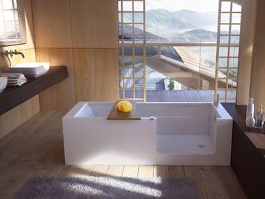 Vasca da bagno centro stanza con porta ELLE BATH