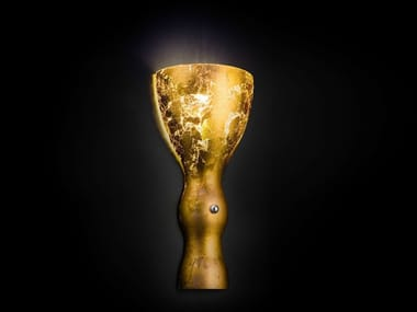 Gold leaf wall light SCHERZO | Wall light