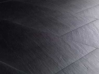 Full-body porcelain stoneware wall/floor tiles with stone effect PIETRE HIGH-TECH - BLACK ARDESIA