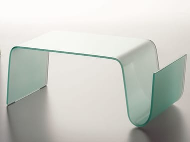 Glass coffee table for living room CURVA