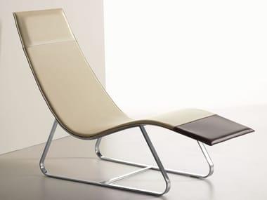 Cuoietto leather Chaise longue DIVA