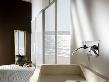 Miscelatore per lavabo a 2 fori a muro WABI | Miscelatore per lavabo a muro