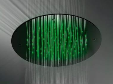 Soffione doccia a soffitto per cromoterapia LOGOS | Soffione doccia