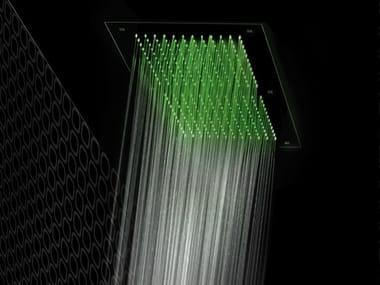 Soffione doccia a soffitto per cromoterapia FLAT | Soffione doccia