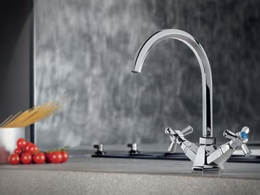 1 hole kitchen tap with swivel spout ECCELSA 3230