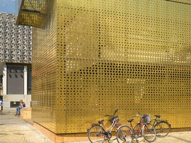 Metal Perforated and embossed sheet for facade TECU® Design_punch