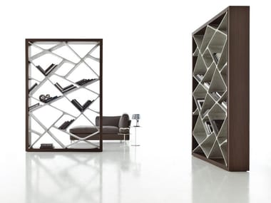 Freestanding double-sided bookcase SHANGHAI