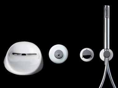 Set de bañera de cerámica con 4 orificios con ducha de mano TOUCH | Set de bañera