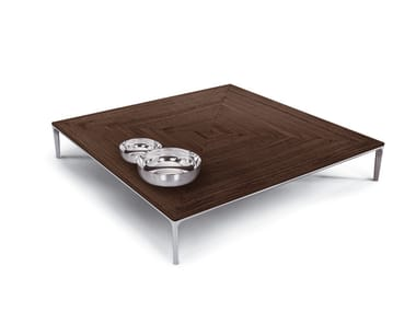 Low coffee table for living room POGGIO | Square coffee table