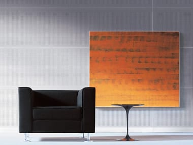 Sound absorbing melamine-faced chipboard wall tiles STILLWALL SYSTEM