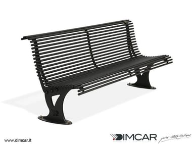 Contemporary style metal Bench with back Panchina Mira