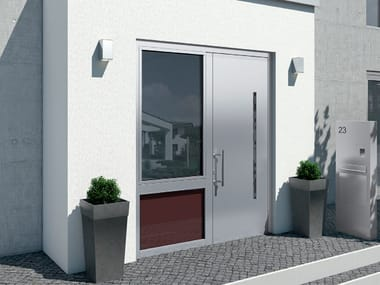 Energy-saving aluminium entry door Schüco ADS 112.IC