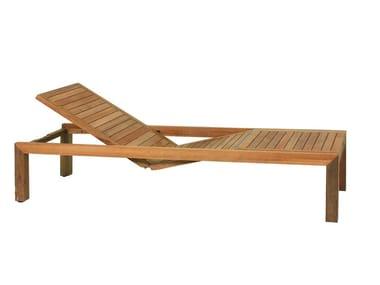 Lettino da giardino reclinabile in teak IXIT | Lettino da giardino