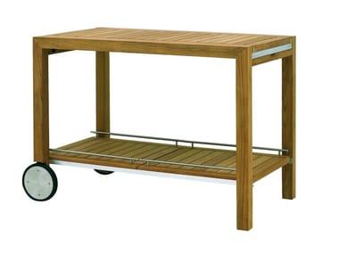Teak garden trolley IXIT | Garden trolley