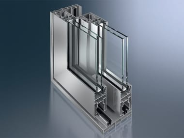 Finestra alzante scorrevole in alluminio Schüco ASS 50 NI