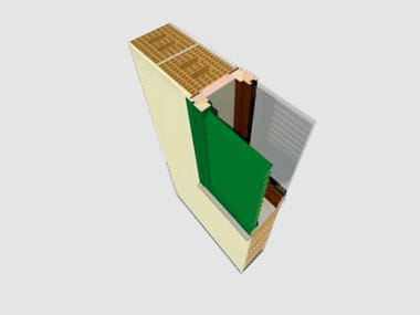Sistema per serramento monoblocco con persiana ANTE