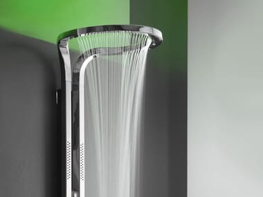 LED shower panel with chromotherapy AMETIS | Shower panel