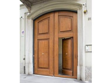 Portone d'ingresso in metallo rivestiti in legno Portoni d'ingresso in metallo rivestiti