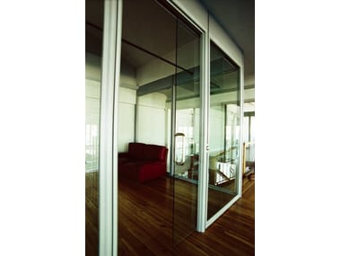 Glass and aluminium office partition Office partition