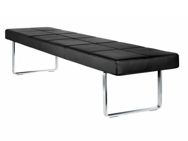 Upholstered leather bench GRATO | Bench