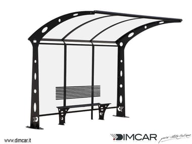 Metal porch for bus stop Pensilina Acaya a sbalzo
