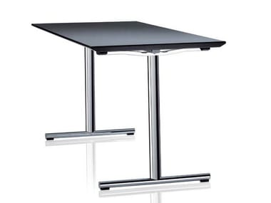 Folding rectangular office desk SLEIGHT