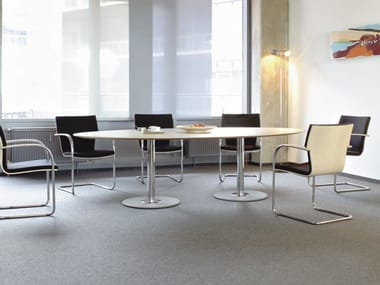 Oval MDF meeting table SPIRA | Oval meeting table