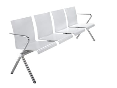 Beam seating with armrests VERONA | Beam seating