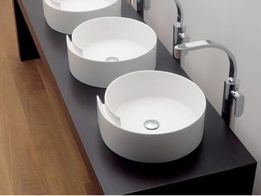 Lavabo da appoggio rotondo in ceramica ROLL 44 | Lavabo da appoggio