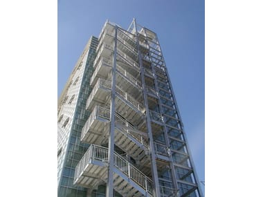 Metal fire escape staircase Fire escape staircase